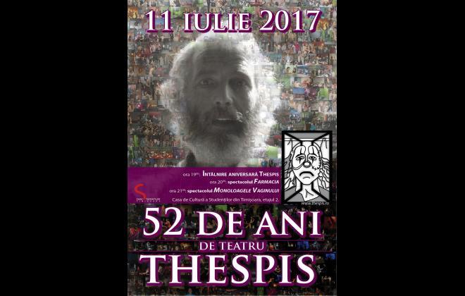 Teatrul Thespis - Aniversare 52 de ani